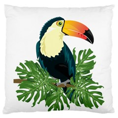 Tropical Birds Large Cushion Case (one Side)
