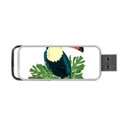 Tropical Birds Portable Usb Flash (two Sides)