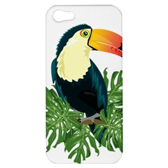 Tropical Birds Apple Iphone 5 Hardshell Case