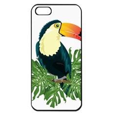 Tropical Birds Apple Iphone 5 Seamless Case (black)