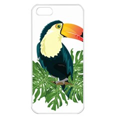 Tropical Birds Apple Iphone 5 Seamless Case (white)