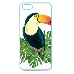 Tropical Birds Apple Seamless Iphone 5 Case (color)