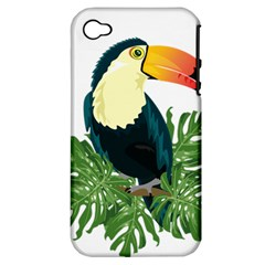 Tropical Birds Apple Iphone 4/4s Hardshell Case (pc+silicone)