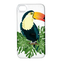 Tropical Birds Apple Iphone 4/4s Hardshell Case With Stand