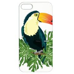 Tropical Birds Apple Iphone 5 Hardshell Case With Stand