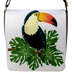 Tropical Birds Flap Closure Messenger Bag (s)
