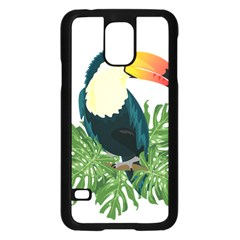 Tropical Birds Samsung Galaxy S5 Case (black)