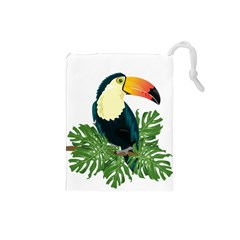 Tropical Birds Drawstring Pouch (small)
