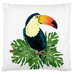 Tropical Birds Large Flano Cushion Case (two Sides)