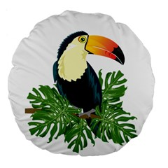 Tropical Birds Large 18  Premium Flano Round Cushions