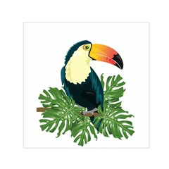 Tropical Birds Small Satin Scarf (square)