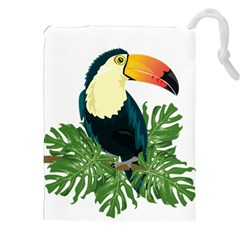 Tropical Birds Drawstring Pouch (xxl)