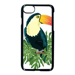 Tropical Birds Apple Iphone 8 Seamless Case (black)
