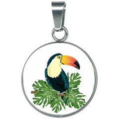 Tropical Birds 20mm Round Necklace