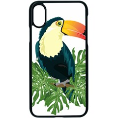 Tropical Birds Apple Iphone Xs Seamless Case (black) by Alisyart