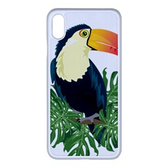 Tropical Birds Apple Iphone Xs Max Seamless Case (white)