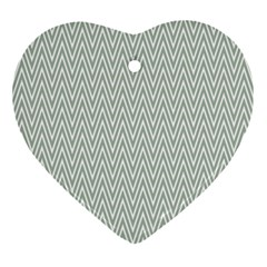 Vintage Pattern Chevron Ornament (heart)