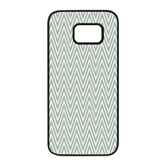 Vintage Pattern Chevron Samsung Galaxy S7 Edge Black Seamless Case by AnjaniArt