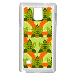 Texture Plant Herbs Herb Green Samsung Galaxy Note 4 Case (white) by Pakrebo