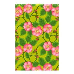 Roses Flowers Pattern Bud Pink Shower Curtain 48  X 72  (small)