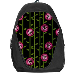 Rose Abstract Rose Garden Backpack Bag by Pakrebo