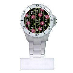 Rose Abstract Rose Garden Plastic Nurses Watch