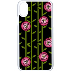 Rose Abstract Rose Garden Apple Iphone Xs Seamless Case (white)