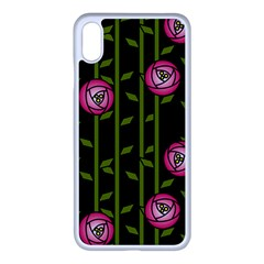 Rose Abstract Rose Garden Apple Iphone Xs Max Seamless Case (white)