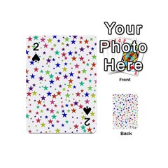 Star Random Background Scattered Playing Cards 54 (mini)