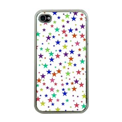 Star Random Background Scattered Apple Iphone 4 Case (clear) by Pakrebo