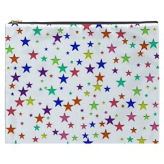 Star Random Background Scattered Cosmetic Bag (xxxl)
