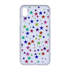 Star Random Background Scattered Apple Iphone Xr Seamless Case (white)