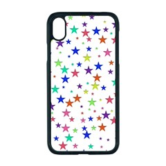 Star Random Background Scattered Apple Iphone Xr Seamless Case (black)