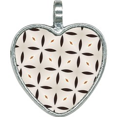 Texture Background Pattern Heart Necklace