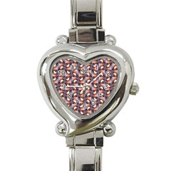 Pattern Abstract Fabric Wallpaper Heart Italian Charm Watch