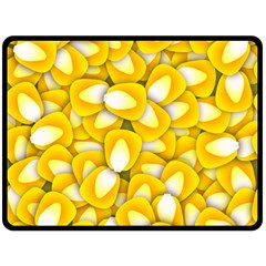 Pattern Background Corn Kernels Fleece Blanket (large)  by Pakrebo