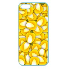 Pattern Background Corn Kernels Apple Seamless Iphone 5 Case (color)