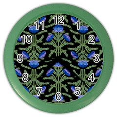 Pattern Thistle Structure Texture Color Wall Clock