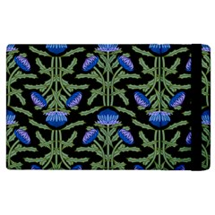 Pattern Thistle Structure Texture Apple Ipad 3/4 Flip Case
