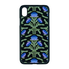 Pattern Thistle Structure Texture Apple Iphone Xr Seamless Case (black)