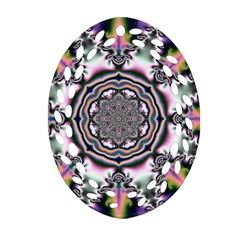 Pattern Abstract Background Art Oval Filigree Ornament (two Sides)