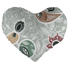 Peisles Pattern Module Design Large 19  Premium Heart Shape Cushions