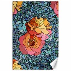 Pattern Rose Yellow Background Canvas 24  X 36