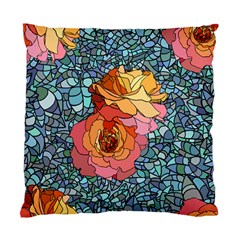 Pattern Rose Yellow Background Standard Cushion Case (one Side)