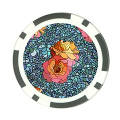 Pattern Rose Yellow Background Poker Chip Card Guard (10 Pack)