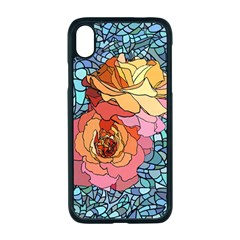 Pattern Rose Yellow Background Apple Iphone Xr Seamless Case (black)