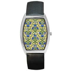 Pattern Thistle Structure Texture Barrel Style Metal Watch