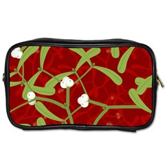 Mistletoe Christmas Texture Advent Toiletries Bag (one Side)