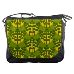 Texture Plant Herbs Herb Green Messenger Bag