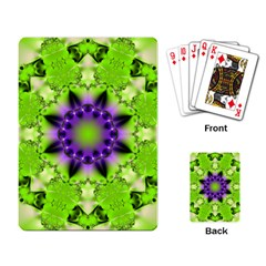Pattern Abstract Background Art Green Playing Cards Single Design